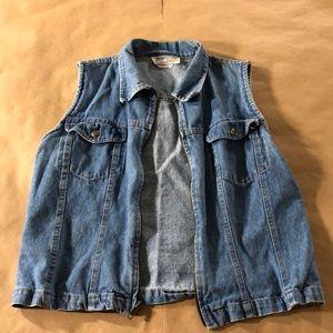 Jackets & Blazers - VINTAGE Denim Zipper Vest